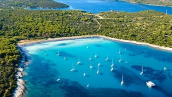 Boats and Adriatic Sea
