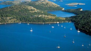 Adriatic sea, islands and boats