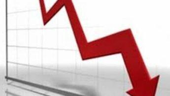 Graf koji prikazuje negativnu tendenciju, odnosno pad