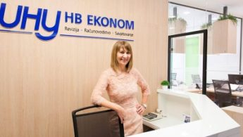 Picture of Helena Budiša inside the UHY HB Ekonom office
